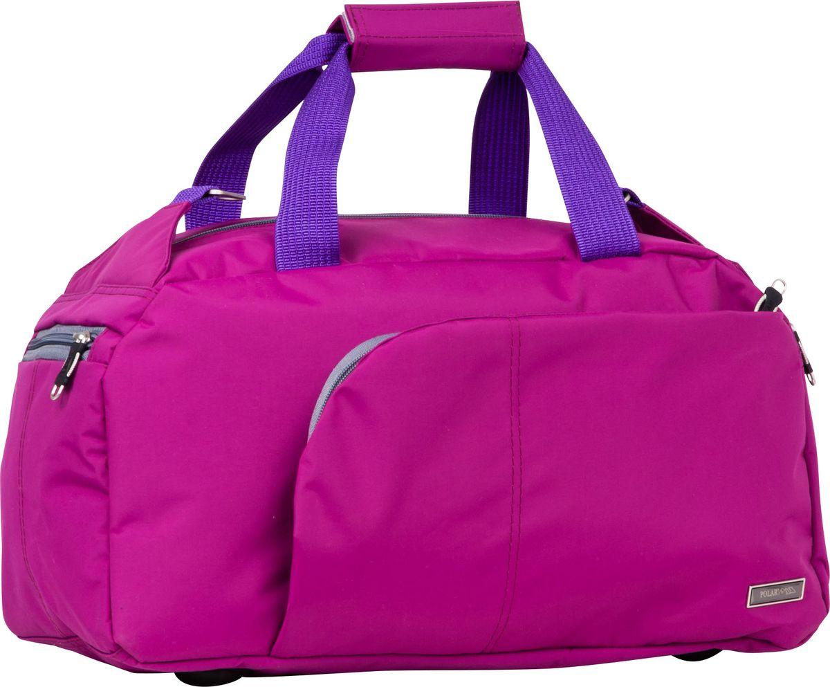 Сумка для фитнеса Polar, цвет: сиреневый, 24 л. П7072П7072Вместительнаядорожная сумка Polar - незаменимый аксессуар в путешествиях, походах и просто для занятий спортом.Выполнена из высокопрочного полимера. Благодаря удобной организации пространства сумки (большое отделение с карманом на молнии, два боковых кармана для мелочей на молнии и карманы на передней и задней частях сумки) вы сможете быстро находить такие нужные вещи как кошелек, ключи, документы и пр.. Сумка оснащена ножками-подставками из прочного износостойкого пластика для бережной эксплуатации.В комплект входит съемный плечевой ремень для удобного ношения.Высота ручек 20 см