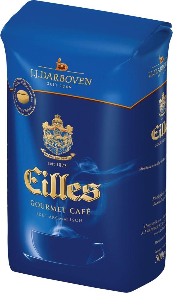 J.J. Darboven Eilles Gourmet Cafe кофе в зернах ,500 г20020Кофе в зернах Eilles Gourmet (Айлес Гурмэ)-потрясающий немецкий кофе, в состав которого входят только лучшие зерна Арабики. Зерна для Eilles Gourmet обжариваются медленно при низкой температуре, что позволяет тщательно прожарить каждое кофейное зернышко. Эта деликатная обжарка обеспечивает наличие интенсивных ноток вишни и темного хлеба в послевкусии. Eilles Gourmet имеет соблазнительный вкус, богатый пряностями аромат, легкую горчинку и оттенки фундука в длительном послевкусии. Eilles Gourmet- изысканный купаж для настоящих кофейных гурманов.Кофе: мифы и факты. Статья OZON Гид