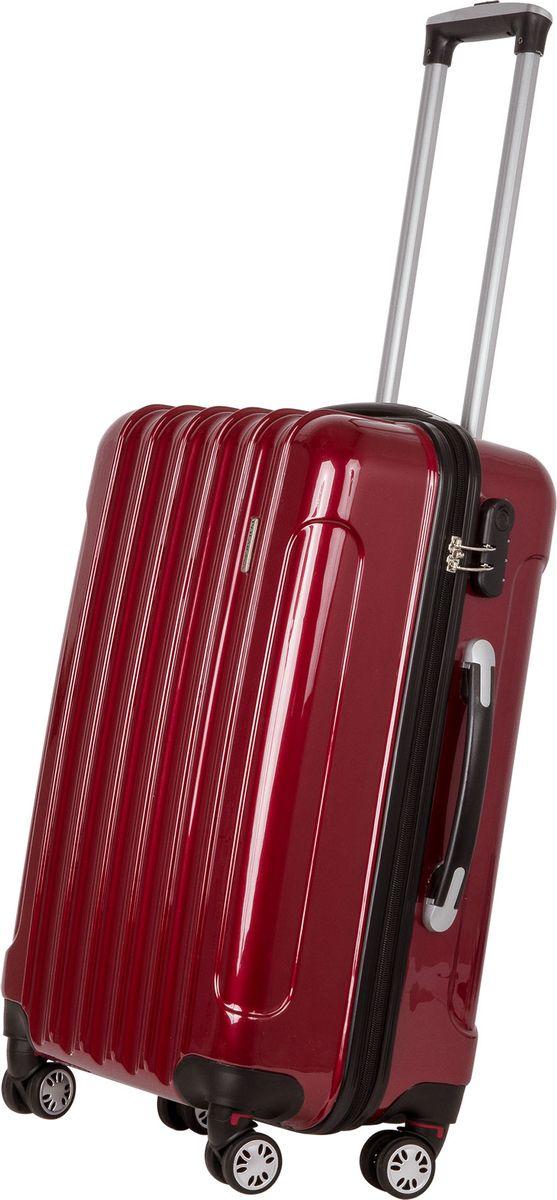 Чемодан Polar, цвет: бордовый, 38,5 л. Р1006-20БРР1006-20БРСуперлегкий пластиковый чемодан Спиннер Polar. Материал ABS- пластик максимально устойчив к деформации. Кроме того, он обладает повышенной гибкостью, что позволяет материалу не ломаться и не трескаться при внешних нагрузках. Наши чемоданы отлично подходят для перевозки хрупких вещей. Пластик отлично защищает внутреннее содержание от любых внешних воздействий.