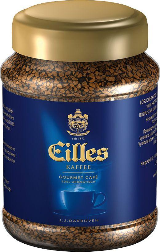 J.J. Darboven Eilles Gourmet Kaffee кофе растворимый сублимированный, 100 г32351Eilles Gourmet Cafe - растворимый кофе. Представляет собой изысканную композицию лучших сортов кофе. Для приготовления Eilles Gourmet используют зерна высшего качества, которые обжариваются медленно при низкой температуре, что позволяет тщательно прожарить каждое кофейное зернышко. Эта деликатная обжарка обеспечивает наличие интенсивных ноток вишни и темного хлеба в послевкусии. Eilles Gourmet имеет соблазнительный вкус, богатый пряностями аромат, легкую горчинку . Eilles Gourmet- изысканный купаж для настоящих кофейных гурманов.Кофе: мифы и факты. Статья OZON Гид