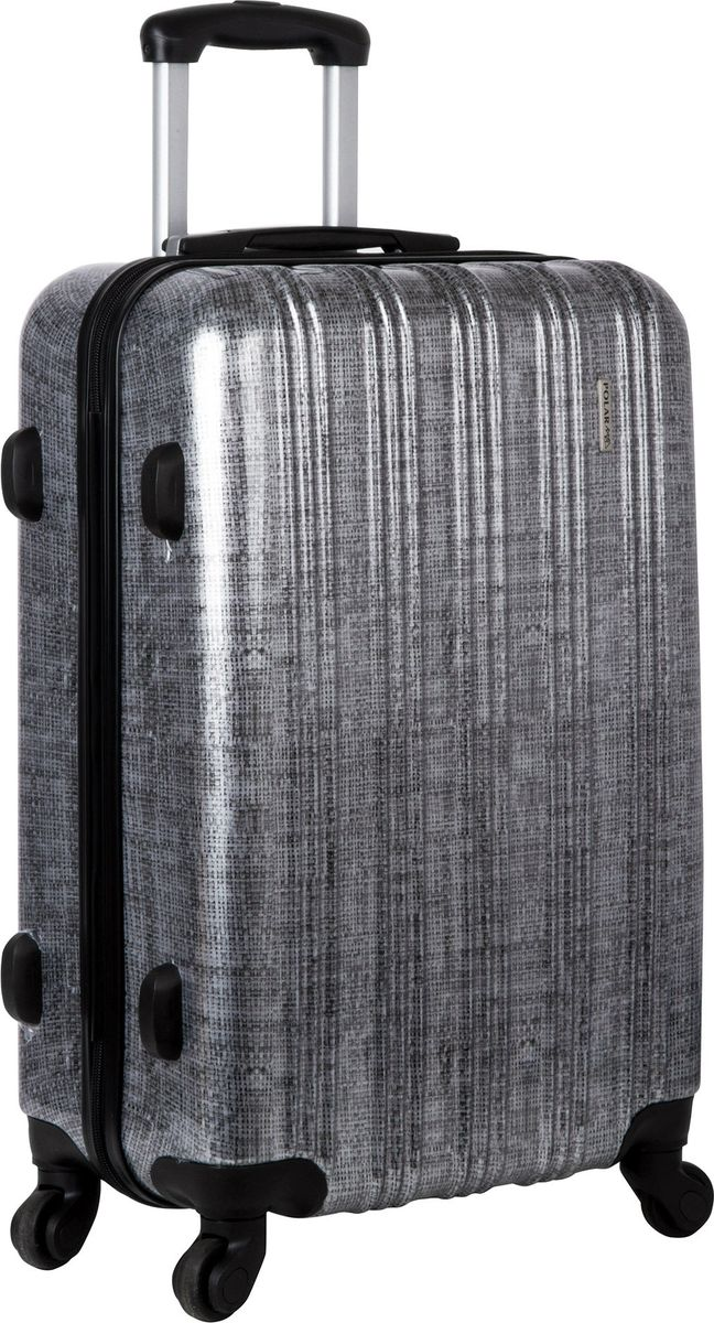 Чемодан Polar, на колесах, цвет: черно-серый, 67 л. Р1065-24ЧСР1065-24ЧССуперлегкий пластиковый чемодан Polar. Материал ABS- пластик максимально устойчив к деформации. Кроме того, он обладает повышенной гибкостью, что позволяет материалу не ломаться и не трескаться при внешних нагрузках. Чемодан отлично подходит для перевозки хрупких вещей. Пластик отлично защищает внутреннее содержание от любых внешних воздействий.Чемодан с четырьмя колесами на основании, вращающимися на 360 градусов, маневренный и удобный в обращении. Можно просто выдвинуть ручку и катить его рядом с собой в любом направлении, при этом не будет никакой нагрузки на кисть, что очень важно, если чемодан у вас большой и тяжелый.Выдвижная ручка. Внутри: портплед, карман из сетки на молнии, фиксатор с зажимом для ваших вещей. Дополнительный карман для вещей ,закрывается на молнии. Также предусмотрен кодовый замок.Вес: 3,45 кг; объем: 67 л.Размер: 42 х 65 х 24,5 см.Как выбрать чемодан. Статья OZON Гид