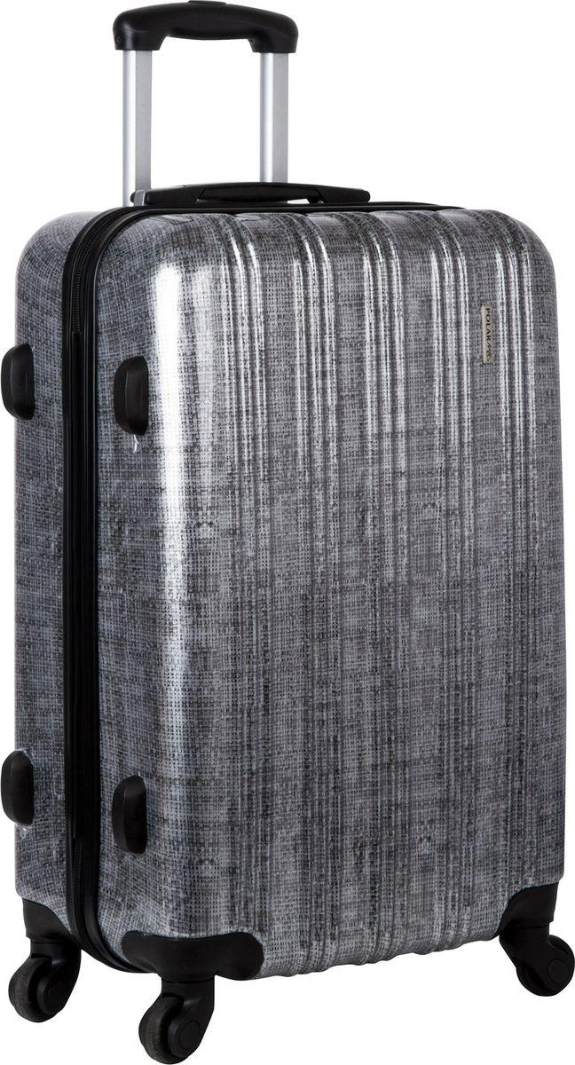Чемодан Polar, на колесах, цвет: черно-серый, 109 л. Р1065-28ЧС