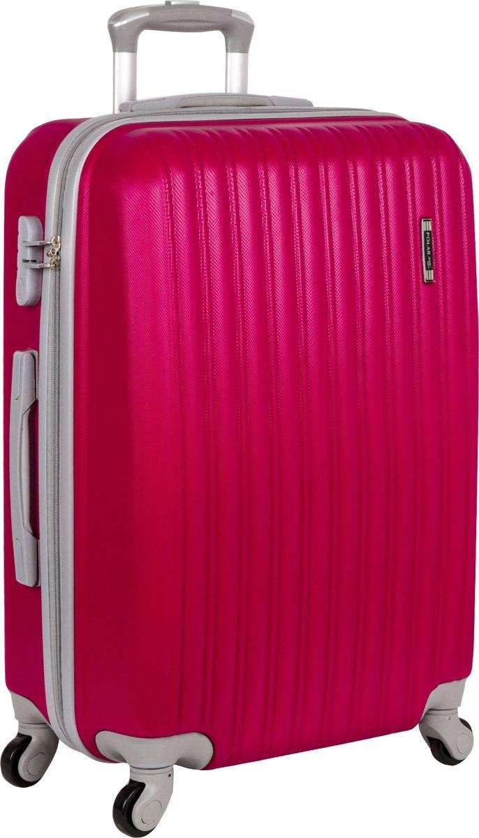 Чемодан Polar, на колесах, цвет: розовый, 100 л. Р12031-27РЗ чемодан samsonite чемодан 55 см lite biz