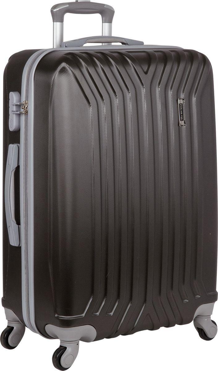 Чемодан Polar, цвет: темно-серый, 111 л. Р22032 28ТСР22032 28ТСНеубиваемые пластиковые чемоданы на четырех колесиках с кодовым замком и выдвижной тележкой.Внутри подкладка из полиэстра.