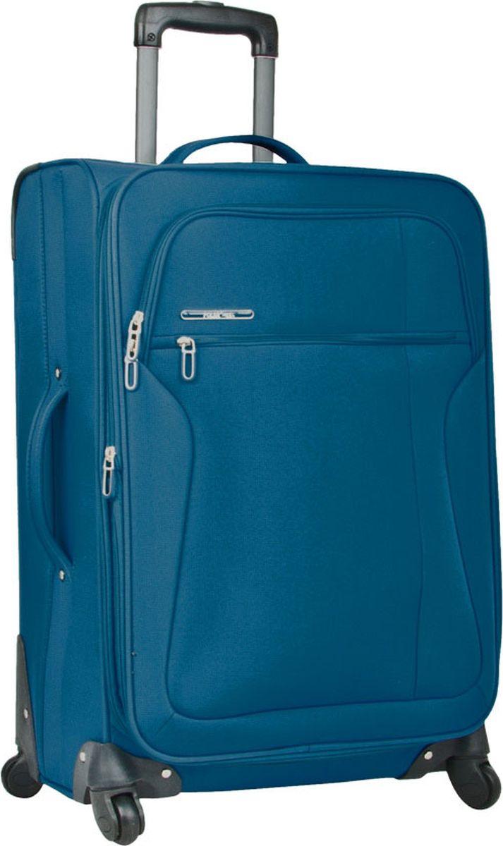 Чемодан Polar, на колесах, цвет: синий, 37 л. Р3021-20СН чемодан polar на колесах цвет черно серый 109 л р1065 28чс
