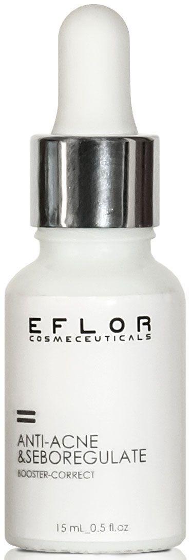 Eflor Сыворотка Anti Acne&Seboregulate, 15 мл4631139618314Сыворотка Anti-acne&Seboregulate для коррекции угревой сыпи, воспалительных элементов и нормализации состояния жирной проблемной кожи. Противоугревой комплекс Ac.Net воздействует на все звенья развития акне и воспалений. Сыворотка способствуют восстановлению нормального баланса микрофлоры кожи, нормализует состав кожного сала. Активный растительный комплекс Evermat эффективно борется с расширенными порами, комедонами и жирным блеском. Идеально подходит как матирующее средство перед нанесение макияжа.Активные ингредиенты: Ac.Net, Evermat, Салициловая кислота.
