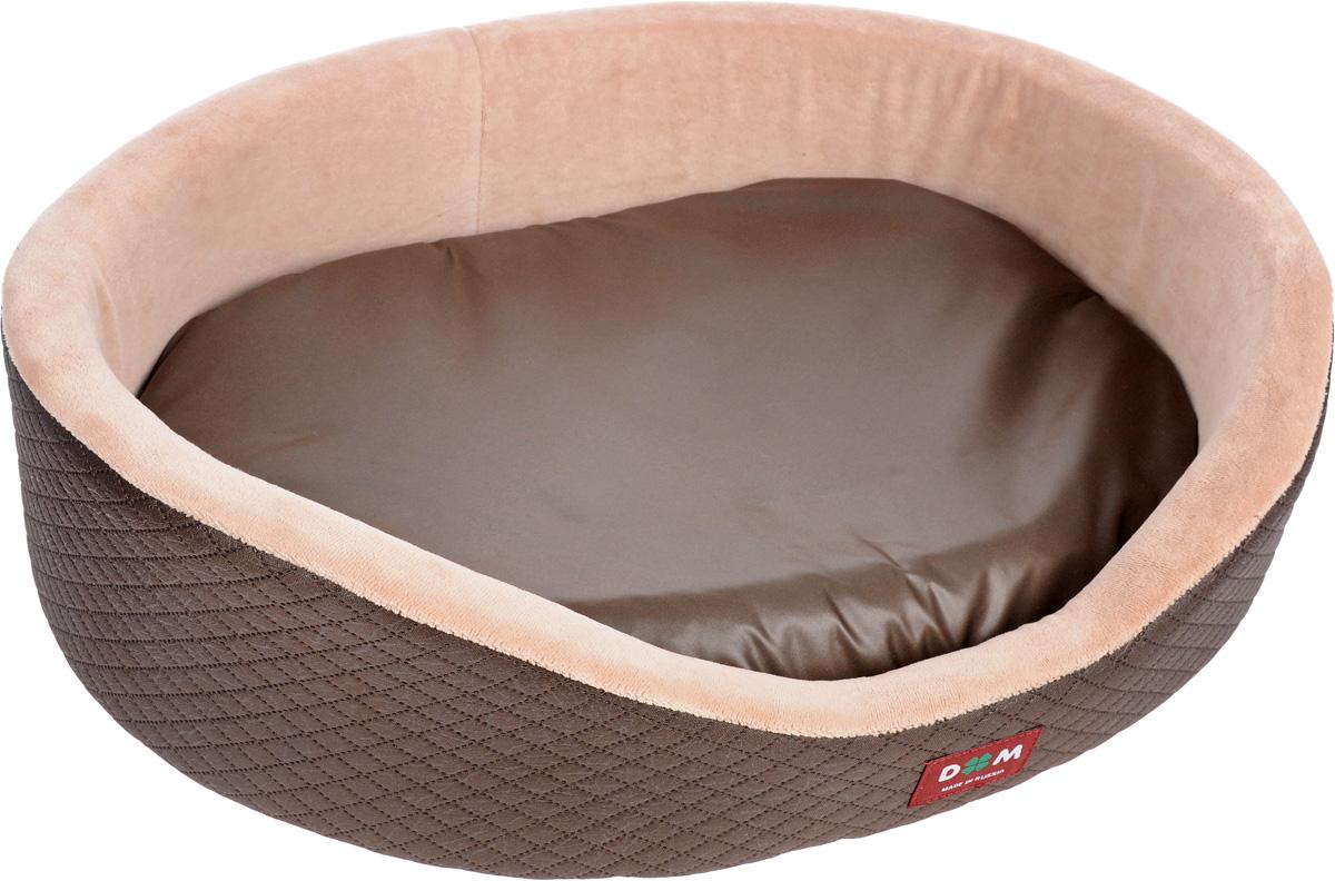 Лежак для животных Dogmoda Ирис, цвет: пепельно-розовый, коричневый, 51 х 40 х 16 см