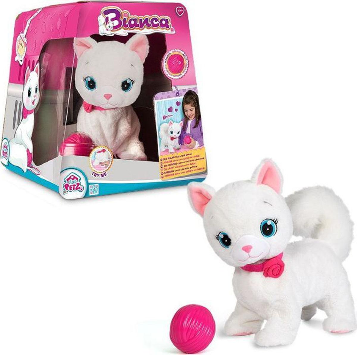 Abtoys Интерактивная игрушка Кошка Bianca клетка сша kojima игрушка моделирования кошка кошка игрушка котовник игрушка осьминог шары