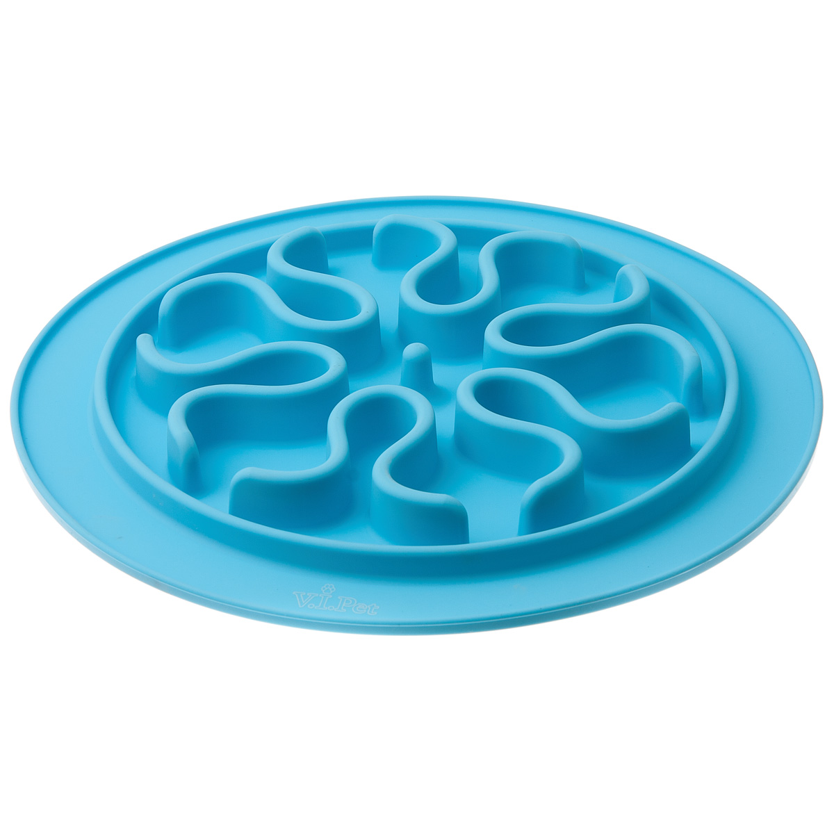 Миска игровая для животных V.I.Pet Волны, силиконовая, для медленного поедания корма, цвет: голубой, диаметр 24 см21003С этой миской время поедания корма увеличивается, питомец ест медленнее, не переедает.С этой миской значительно уменьшается вероятность, что питомец поперхнётся, или заглотит воздух.