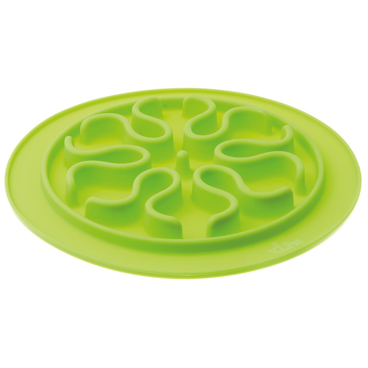Миска игровая для животных V.I.Pet  Волны , цвет: салатовый, диаметр 24 см - Аксессуары для кормления