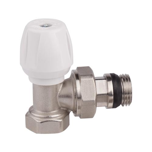Вентиль ручной регулировки ICMA, угловой, резьба 1/282803AD06Ручной вентиль ICMA предназначен для регулировки теплового режима отопительного прибора путем изменения количества теплоносителя от нуля до величины, которая определена данным настроечным вентилем. Такой принцип регулирования позволяет производить плавную регулировку и снижать шумы, возникающие в системе отопления при движении теплоносителя.