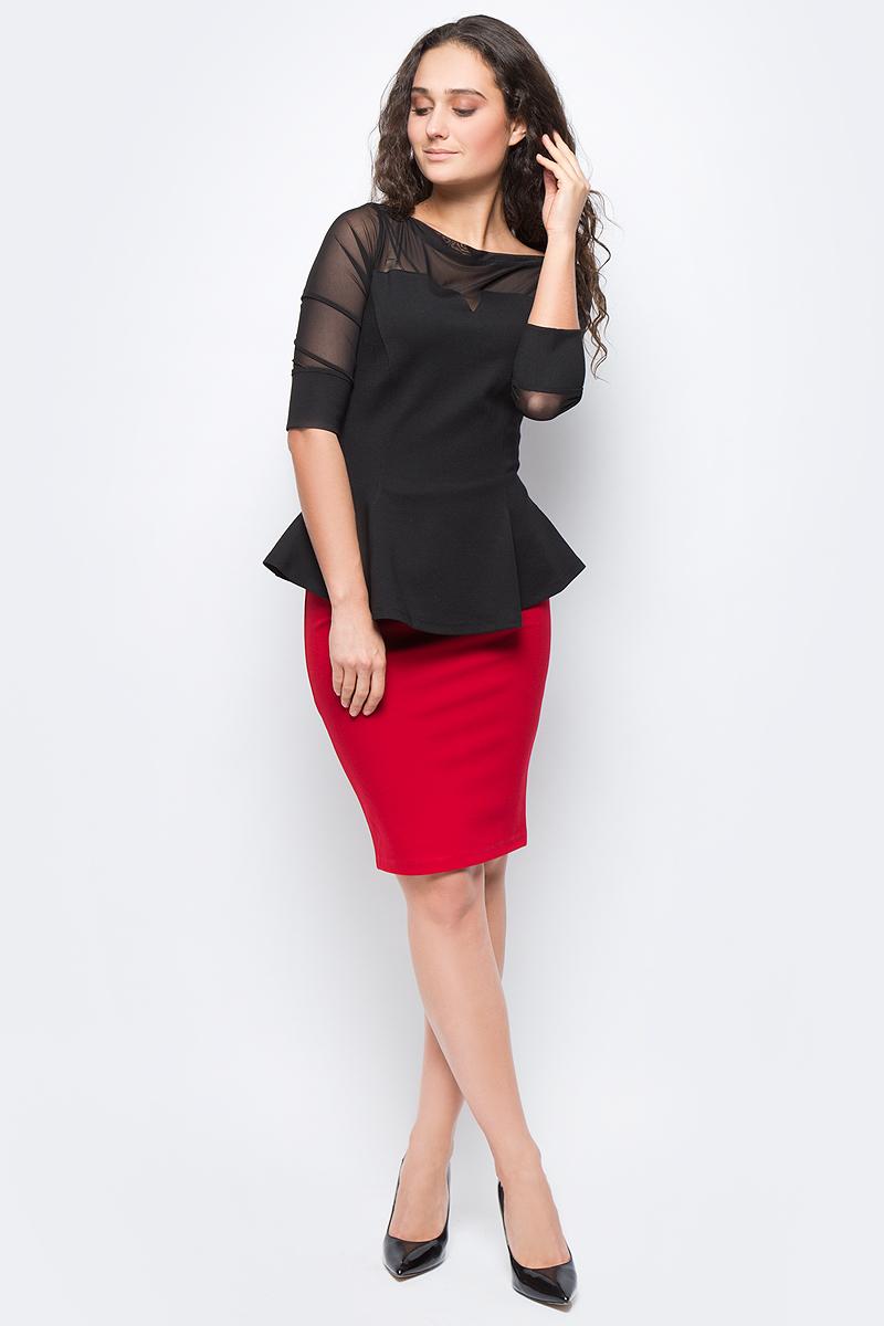 Блузка женская adL, цвет: черный. 11532041000_001. Размер XS (40/42)