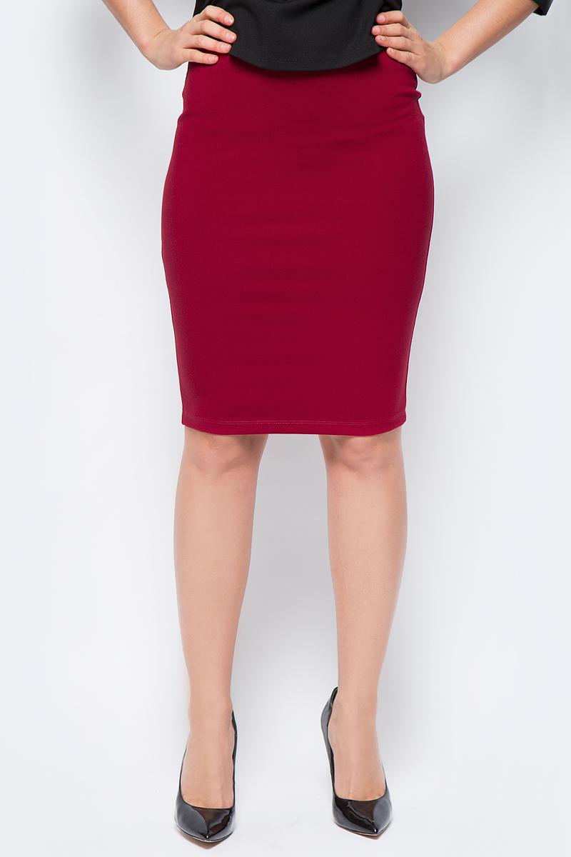 Юбка женская adL, цвет: красный. 12718248067_006. Размер XS (40/42)12718248067_006Стильная юбка-карандаш, выполненная из комбинированного материала, отлично дополнит ваш классический стиль. Модель сзади дополнена застежкой-молнией.