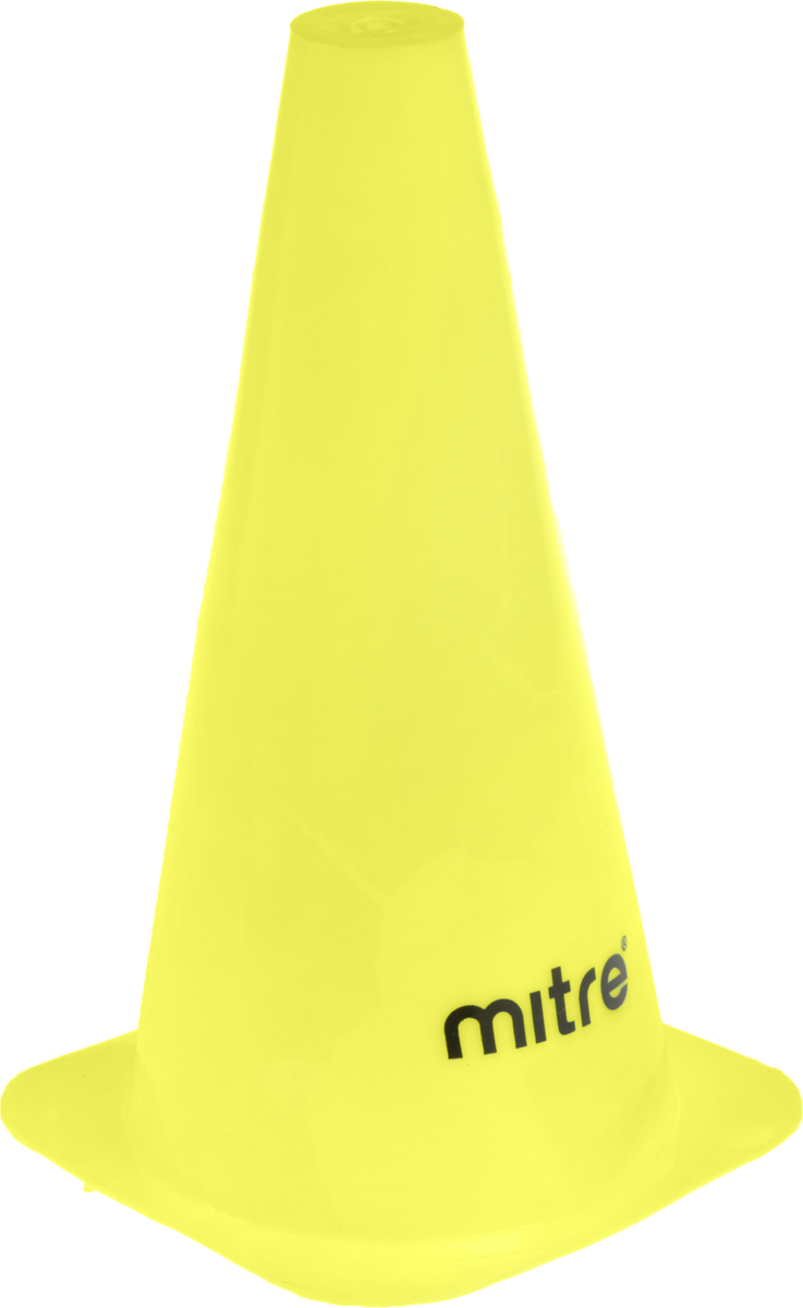 Конус разметочный Mitre, цвет: желтый, 30 смA3107YA1Тренировочный конус Mitre выполнен из прочного пластика. Он применяется для разметки газона во время тренировок по футболу.Высота конуса: 30 см.
