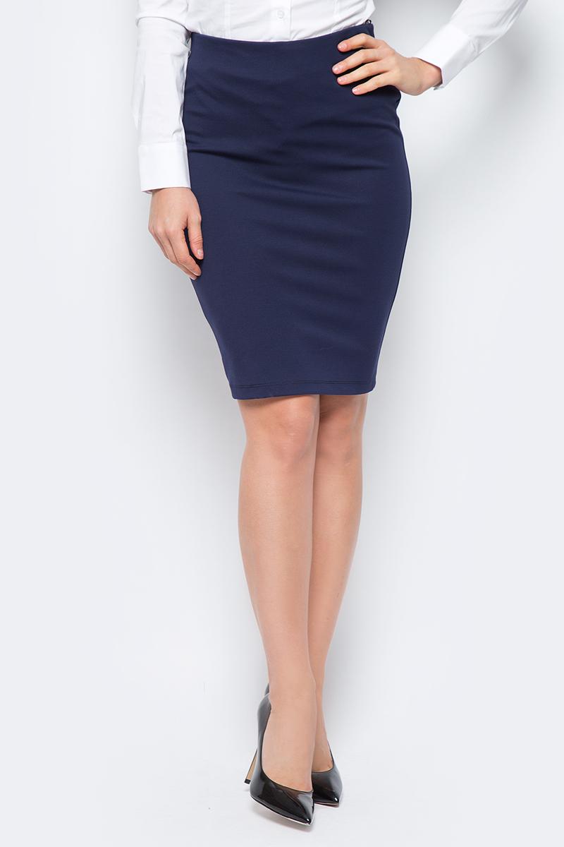 Юбка женская adL, цвет: темно-синий. 12718248067_018. Размер M (44/46)12718248067_018Стильная юбка-карандаш, выполненная из комбинированного материала, отлично дополнит ваш классический стиль. Модель сзади дополнена застежкой-молнией.