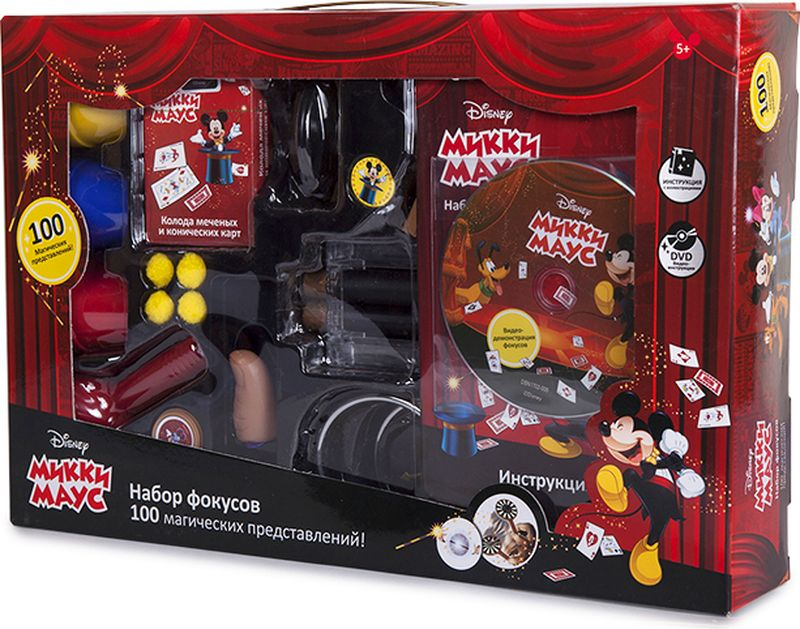 Disney Набор для фокусов Mickey Mouse 100 фокусов