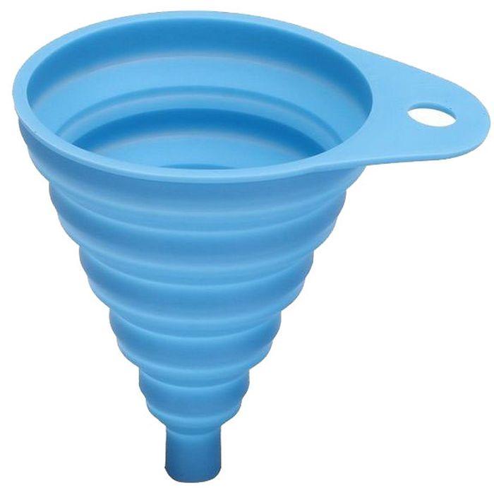 Воронка FidgetGo, складная, цвет: голубой, 8,5 х 10,5 см2212345678109Воронка FidgetGo выполнена из силикона и предназначена для переливания жидкости. Ее можно сложить и поместить в небольшой коробке или повесить на крючок.Термостойкая силиконовая воронка устойчива к пятнам и выдерживает температуру до 230°C.Можно мыть в посудомоечной машине.