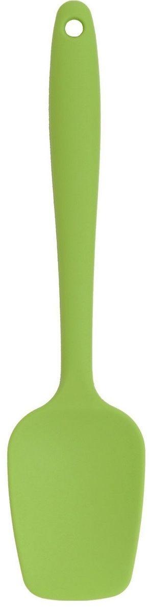 Лопатка кулинарная FidgetGo, силиконовая, цвет: зеленый, длина 21 см2212345678121Чем отличается силиконовая лопатка от обычных металлических или деревянных? Всем известно, что тефлоновое, керамическое и другое покрытие очень легко повредить. Поэтому многие стараются бережно относиться к такой посуде и использовать менее жесткие и неострые лопатки при работе. С силиконовой лопаткой данная проблема полностью исчерпывается! Теперь вы можете скрести поверхности кастрюль и сковородок, переворачивать блинчики и отбивные, интенсивно перемешивать продукты. Все благодаря не острой и в мере жесткой лопатке, которая при любом воздействии не повреждает покрытие, как металлические и пластиковые инструменты.Более того, в отличие от деревянных, такие лопатки со временем не пропитываются влагой и запахами приготовляемых блюд.Силиконовой лопаткой также можно разрезать мягкие запеканки или пироги, покрывать готовые кексы глазурью или промазывать коржи перед выпеканием. Лопатка не деформируется при эксплуатации и к ней не прилипают продукты. Благодаря яркому цветовому решению она отлично впишется в интерьер современной кухни. Силиконовую лопатку легко вымыть в посудомоечной машине или привычным способом с помощью мягкой губки и нейтрального моющего средства.Нельзя для мытья использовать агрессивные моющие средства и жесткие щетки.