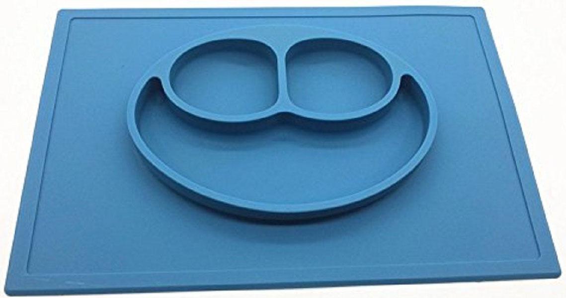 Тарелка FidgetGo Улыбка, с подносом, цвет: голубой, диаметр 22 см2212345678144Уникальная новинка, не имеющая аналогов на Российском рынке представляет собой тяжеленькую силиконовую поверхность, представляющую собой поднос (плэйсмат, пространство для игр) с тарелкой.Тарелка благодаря силиконовому дну прилипает к столу и другим равномерным поверхностям, предотвращая беспорядок на кухне. Недоеденная еда так и останется на тарелке или пространстве вокруг нее, не испачкав стол и кухню. Перевернуть тарелку также невозможно, что действительно помогает экономить мамин труд.Детская посуда изготовлена из качественного пищевого силикона, абсолютно гипоаллергенного и безопасного. Еще одной приятной особенностью силиконовых тарелок для детей является то, что их можно мыть в посудомоечной машинке, разогревать в микроволновой печи, что обычно не предусмотрено при использовании других детских тарелочек.Весёлая форма тарелки поднимет настроение вашему ребенку.