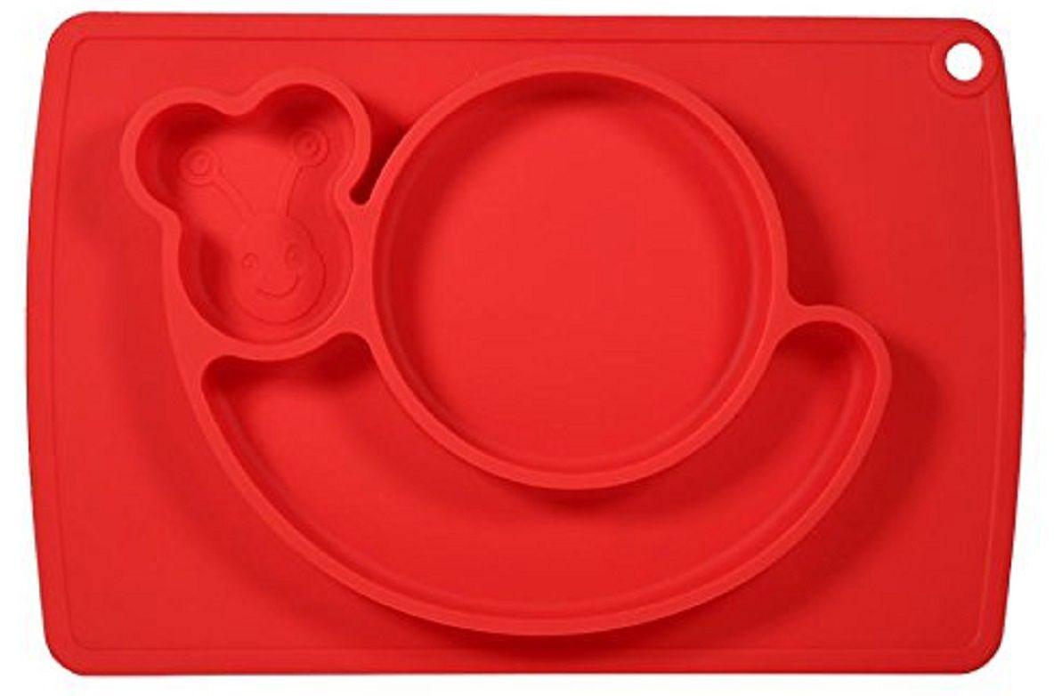 Тарелка FidgetGo Улитка, с подносом, цвет: красный, диаметр 22 см2212345678150Уникальная новинка, не имеющая аналогов на Российском рынке представляет собой тяжеленькую силиконовую поверхность, представляющую собой поднос (плэйсмат, пространство для игр) с тарелкой.Тарелка благодаря силиконовому дну прилипает к столу и другим равномерным поверхностям, предотвращая беспорядок на кухне. Недоеденная еда так и останется на тарелке или пространстве вокруг нее, не испачкав стол и кухню. Перевернуть тарелку также невозможно, что действительно помогает экономить мамин труд.Детская посуда изготовлена из качественного пищевого силикона, абсолютно гипоаллергенного и безопасного. Еще одной приятной особенностью силиконовых тарелок для детей является то, что их можно мыть в посудомоечной машинке, разогревать в микроволновой печи, что обычно не предусмотрено при использовании других детских тарелочек.Весёлая форма тарелки поднимет настроение вашему ребенку.