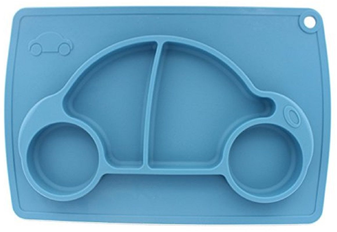Тарелка FidgetGo Машинка, с подносом, цвет: голубой, диаметр 22 см2212345678154Уникальная новинка, не имеющая аналогов на Российском рынке представляет собой тяжеленькую силиконовую поверхность, представляющую собой поднос (плэйсмат, пространство для игр) с тарелкой.Тарелка благодаря силиконовому дну прилипает к столу и другим равномерным поверхностям, предотвращая беспорядок на кухне. Недоеденная еда так и останется на тарелке или пространстве вокруг нее, не испачкав стол и кухню. Перевернуть тарелку также невозможно, что действительно помогает экономить мамин труд.Детская посуда изготовлена из качественного пищевого силикона, абсолютно гипоаллергенного и безопасного. Еще одной приятной особенностью силиконовых тарелок для детей является то, что их можно мыть в посудомоечной машинке, разогревать в микроволновой печи, что обычно не предусмотрено при использовании других детских тарелочек.Весёлая форма тарелки поднимет настроение вашему ребенку.