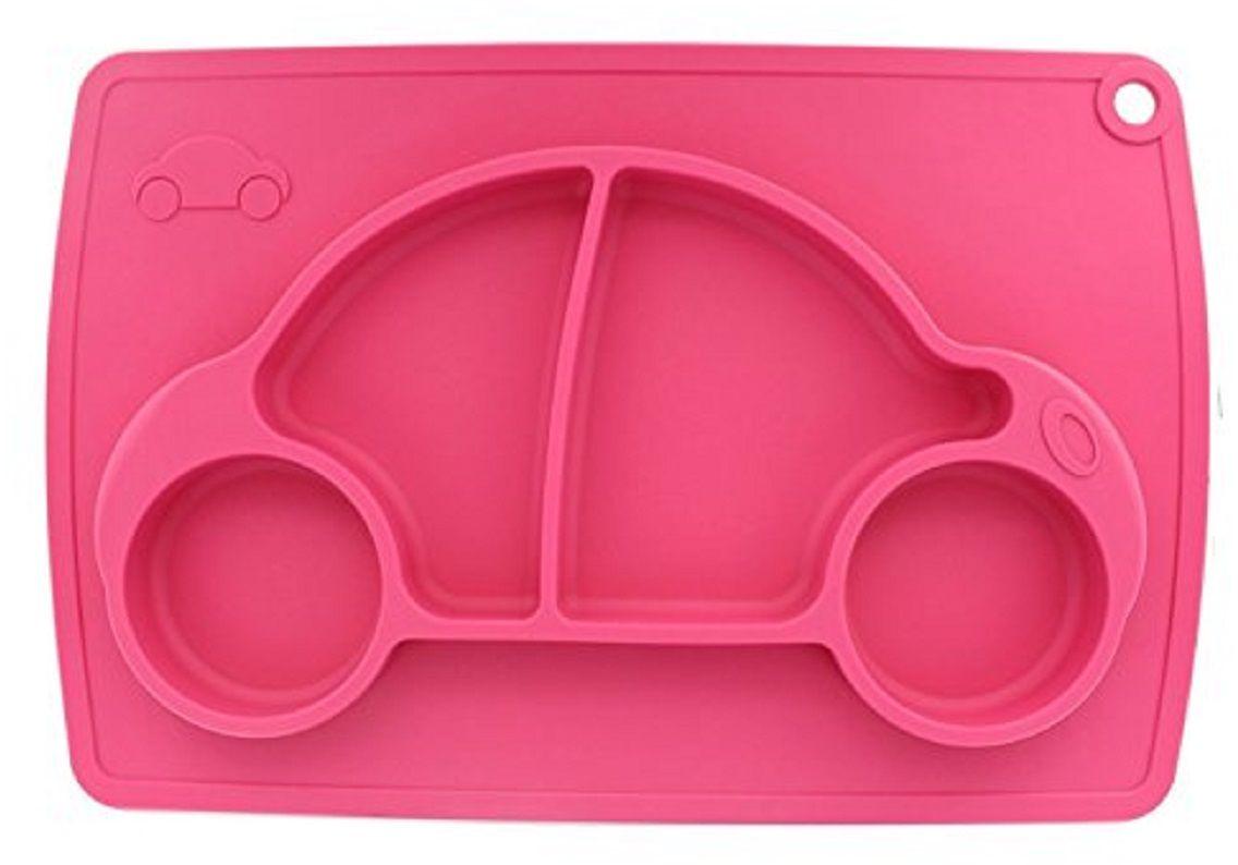 Тарелка FidgetGo Машинка, с подносом, цвет: розовый, диаметр 22 см2212345678155Уникальная новинка, не имеющая аналогов на Российском рынке представляет собой тяжеленькую силиконовую поверхность, представляющую собой поднос (плэйсмат, пространство для игр) с тарелкой.Тарелка благодаря силиконовому дну прилипает к столу и другим равномерным поверхностям, предотвращая беспорядок на кухне. Недоеденная еда так и останется на тарелке или пространстве вокруг нее, не испачкав стол и кухню. Перевернуть тарелку также невозможно, что действительно помогает экономить мамин труд.Детская посуда изготовлена из качественного пищевого силикона, абсолютно гипоаллергенного и безопасного. Еще одной приятной особенностью силиконовых тарелок для детей является то, что их можно мыть в посудомоечной машинке, разогревать в микроволновой печи, что обычно не предусмотрено при использовании других детских тарелочек.Весёлая форма тарелки поднимет настроение вашему ребенку.