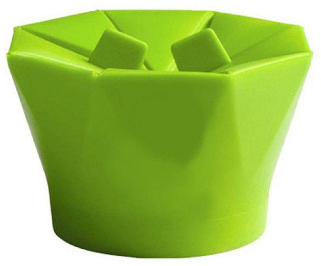 Форма для приготовления попкорна FidgetGo, цвет: зеленый, 10,4 х 16 х 16 см2212345678161Силиконовая форма позволяет готовить попкорн из зерен кукурузы без позволяет контролировать приготовление, а не догадываться по звукам из микроволновки.Пару минут и большой стакан горячего, ароматного и свежего попкорна уже у Вас!Насладитесь вкусом приготовленной на пару домашней и питательной воздушной кукурузой и попробуйте разные рецепты, чтобы она получилась еще оригинальнее.
