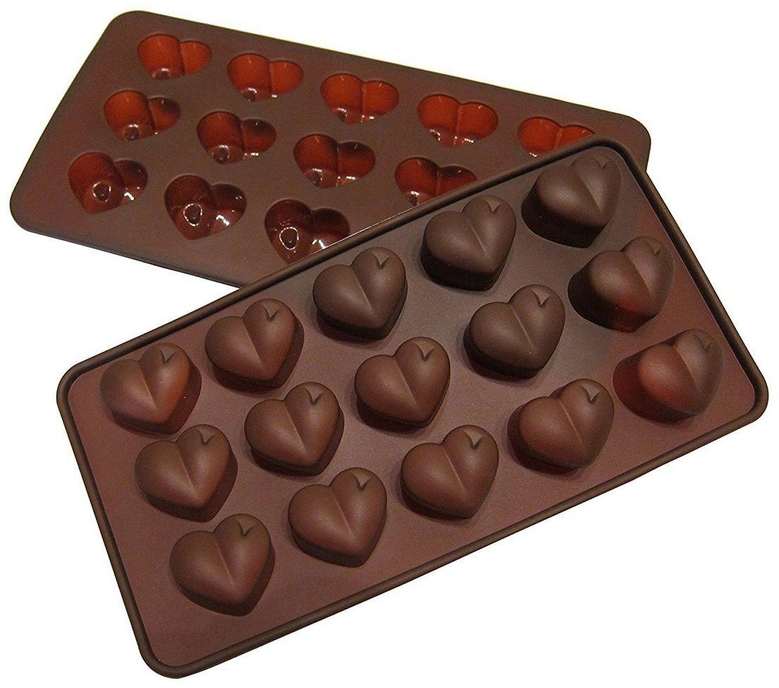 Форма для льда и шоколада FidgetGo Сердечки, цвет: коричневый, 21 х 10 см, 15 ячеек2212345678167Добавьте сладкие ноты любви и романтики: Фигурка в виде сердца - это ассоциация любви и романтики. Силиконовая форма имеет 15 ячеек в форме сердца. Вы можете получить самые идеальные конфеты из, желе, шоколада, мороженого, фруктового сока. Раскройте свое творчество, как профессиональный шеф-повар кондитер, и поразите своих друзей, семью, детей конфетами и печеньем, которые вы сделали. Это отличный подарок для ваших близких. - Эта форма в виде сердца спроектирована и изготовлена с учетом горячих и холодных обработок, она может хорошо противостоять низкой и высокой температуре от -40 до +230°С. Независимо от того, какие способы приготовления вы используете для нее, силикон не проявит ни малейшего признака износа. Она безопасны для морозильной камеры, духовки, микроволновой печи и посудомоечной машины. - Этот шоколадный лоток в форме сердечек очень легко наполнить вашими ингредиентами, а также просто извлечь.