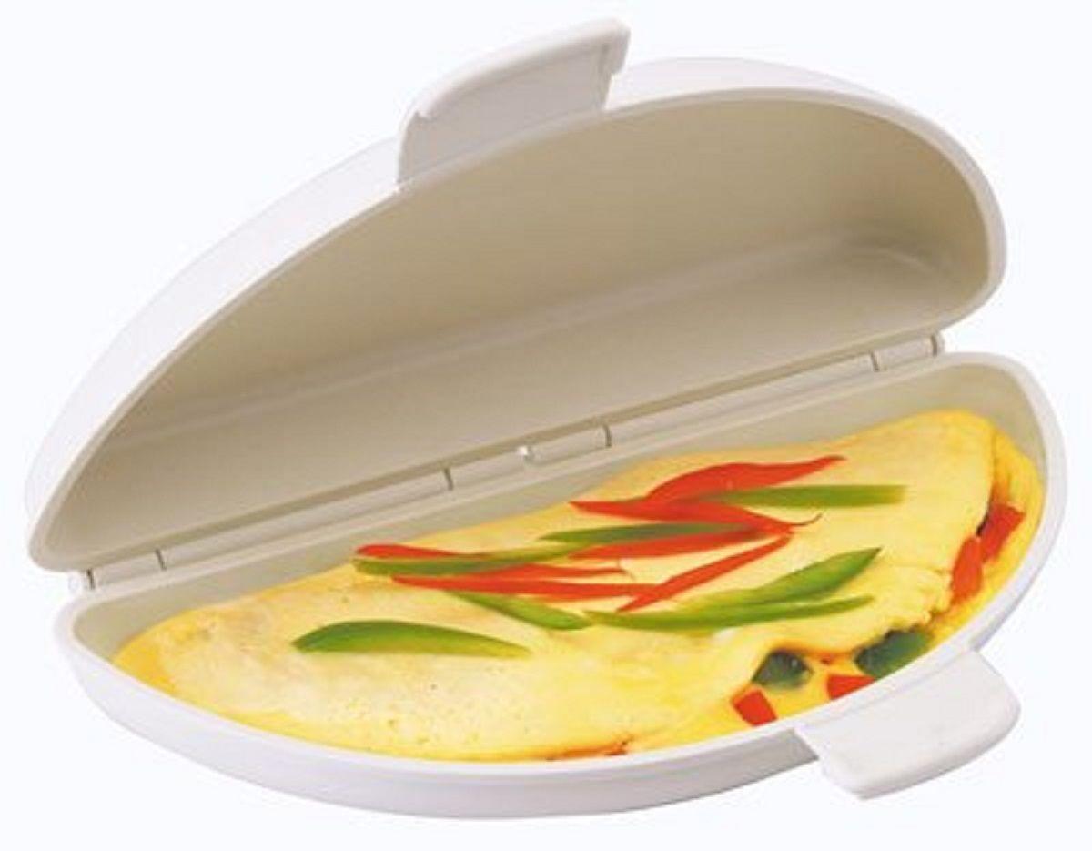 Форма для приготовления омлета и глазуньи в микроволновке FidgetGo, цвет: белый2212345678173Многие любят приготовить вкусный омлет или глазунью на завтрак. Но обычный способ жарки не практичен и требует присутствия при готовке. Есть гораздо лучший способ готовить омлет и яичницу!Форма для приготовления омлета и глазуньи в микроволновке - это быстрый способ приготовить и без лишних затрат по времени. Всего несколько минут и вкусный завтрак готов.Преимущества:Буквально за пару минут омлет и яичница готовы.Нет необходимости следить за приготовлением.Ничего не пригорает.Легко добавить дополнительные ингредиенты.Омлетница легко отмывается.Итог, вкусная и здоровая пища за пару минут.