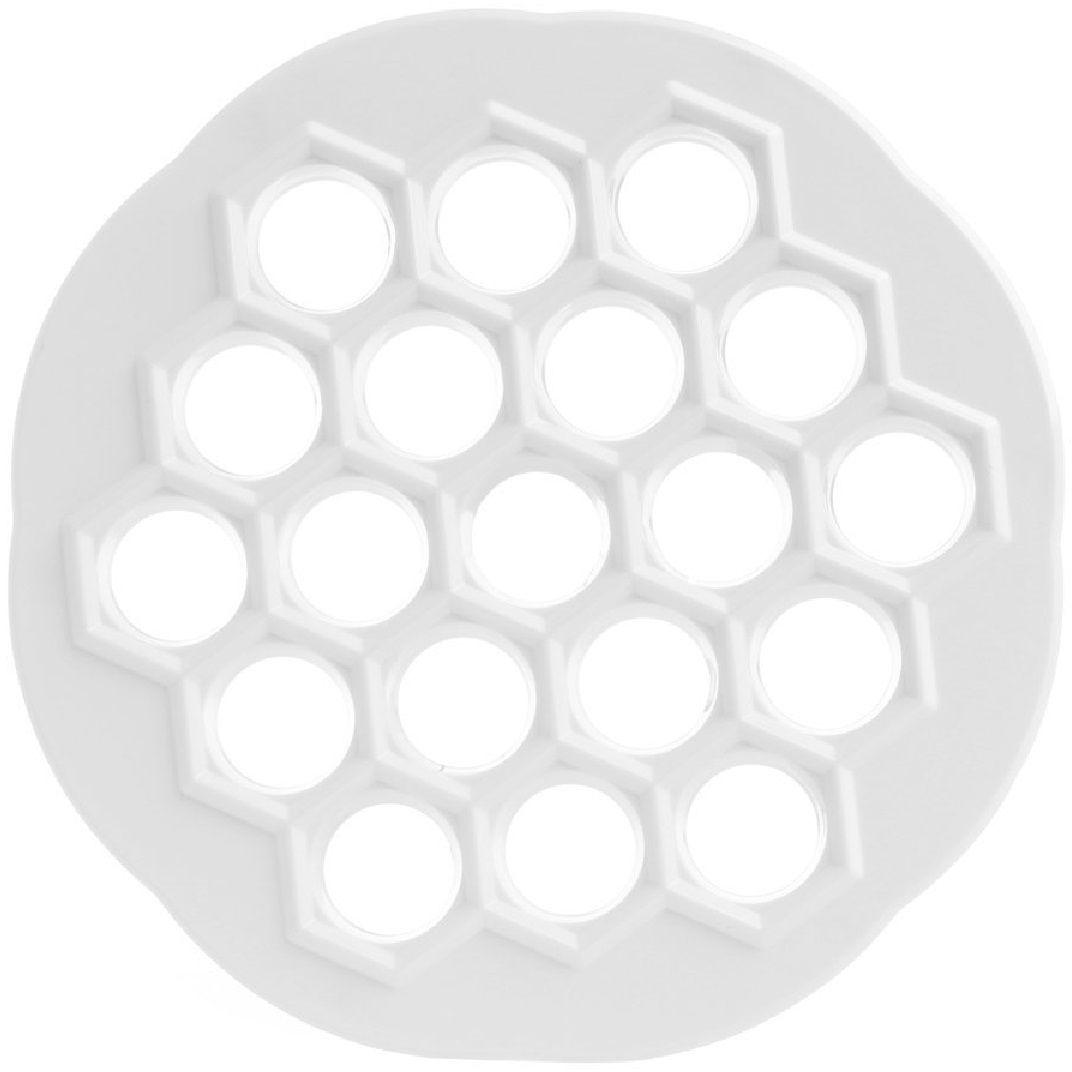 ПельменницаFidgetGo, цвет: белый2212345678174Теперь вы научитесь быстро готовить одинаковые, идеальной шестиугольной формы пельмени. Благодаря этому агрегату, края теста склеятся качественно, а при варке не развалятся на половинки. Сначала ваши близкие могут даже не поверить, что это вы своими руками создали красоту без гребешков по краям!