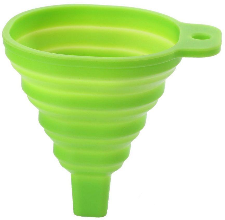 Воронка FidgetGo, складная, цвет: салатовый, 8,5 х 10,5 см2212345678932Воронка FidgetGo выполнена из силикона и предназначена для переливания жидкости. Ее можно сложить и поместить в небольшой коробке или повесить на крючок.Термостойкая силиконовая воронка устойчива к пятнам и выдерживает температуру до 230°C.Можно мыть в посудомоечной машине.