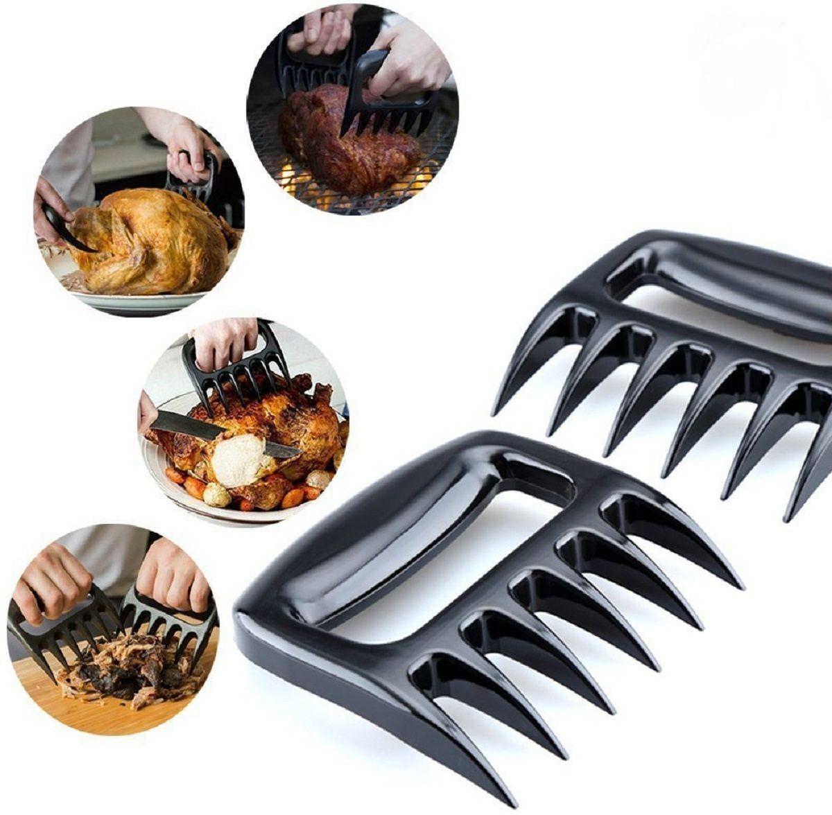 Шредер для мяса FidgetGo Когти, цвет: черный, 11,5 х 11,5 х 2,5 см2212345678939Функции шредера для мяса. С помощью шредера Вы сможете размягчить мясо, отбивая его острыми шипами. Подготовленное таким образом мясо будет нежным и сочным.Переворачивать мясо на гирле – это проблематично. Но только не с этим устройством. Шредер изготовлен из жаростойкого материала. Вы сможете переворачивать мясо на углях, сковороде или в духовке.Когда мясо приготовлено, его нужно красиво подать. Разделить на мелкие или порционные куски Вы сможете его все с тем же шредером.Если Вам нужно нарезать горячий кусок мяса на кусочки, зафиксируйте его шредером. Так Вы никогда не обожжете пальцы и без труда подготовите мясо для подачи на стол.Обычно пикники в кругу друзей не обходятся без салата и десерта. используйте шредер, чтобы нарезать овощи и фрукты. С ним процесс будет быстрым и простым.Преимущества шредера для мяса. Шредер выполнен из пищевого жаростойкого пластика. Он не нагревается, а при воздействии тепла не выделяет токсических веществ.Шредер имеет форму медвежьей лапы. и это неспроста. Такая форма прибора облегчает обращение с горячим мясом и с другими продуктами.Этот инструмент обеспечивает безопасность во время приготовления мяса на гриле. Ваши руки полностью защищены от ожогов.С таким приспособлением можно почувствовать себя хищником, который цепко держит свою добычу.
