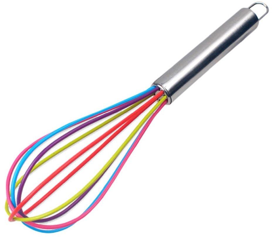 Венчик FidgetGo Цветной, силиконовый, цвет: мультиколор2212345678944Венчик силиконовый FidgetGo Цветной– практичный кухонный аксессуар, способный обеспечить эффективный процесс взбивания любых продуктов и жидкостей. Он изготавливается из стали и покрывается силиконом (рабочая часть), а поэтому подходит для любой посуды, включая емкости с чувствительным антипригарным покрытием.