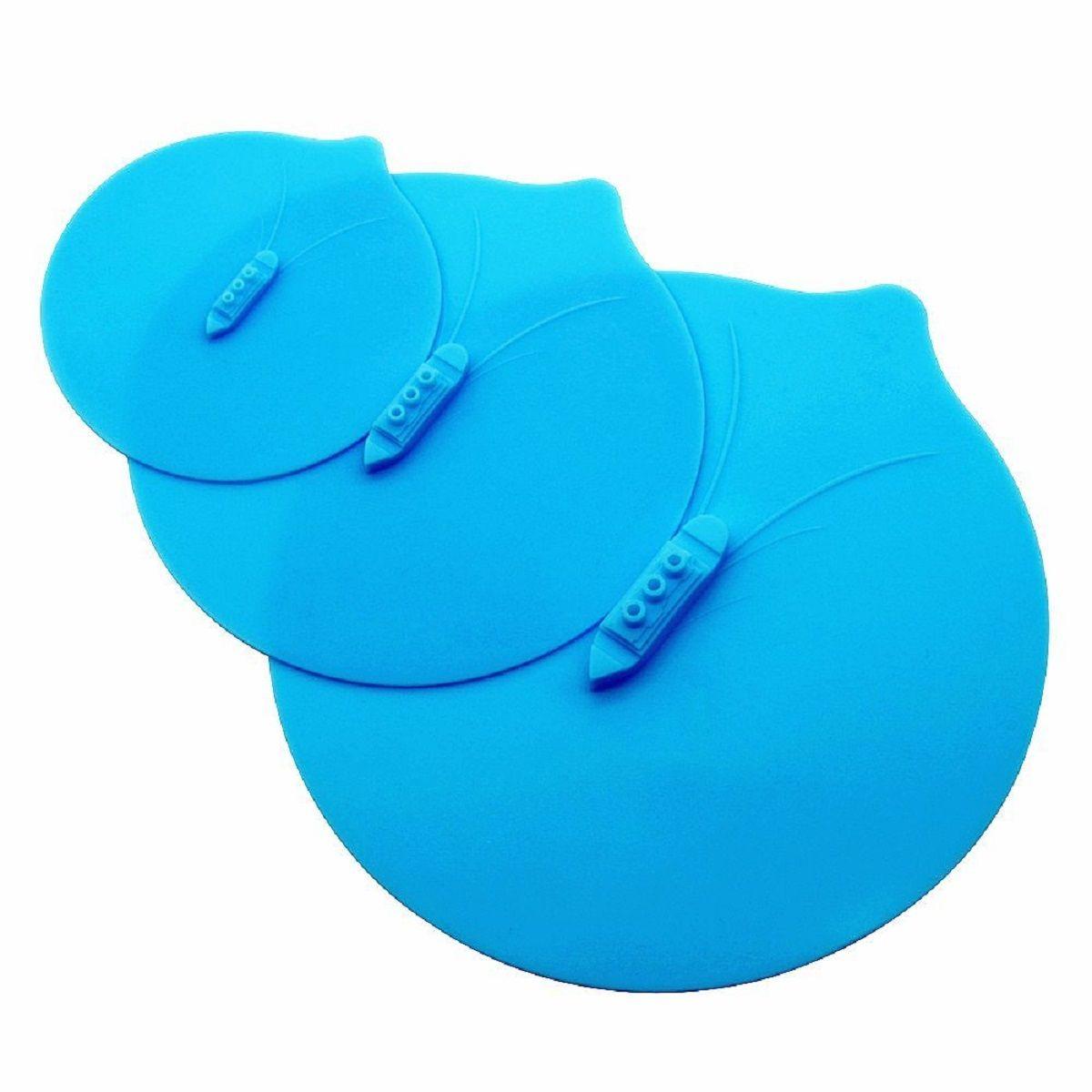 Набор крышек с отверстиями для выпуска пара FidgetGo  Пароход , силиконовые, цвет: голубой, 3 шт - Кухонные принадлежности