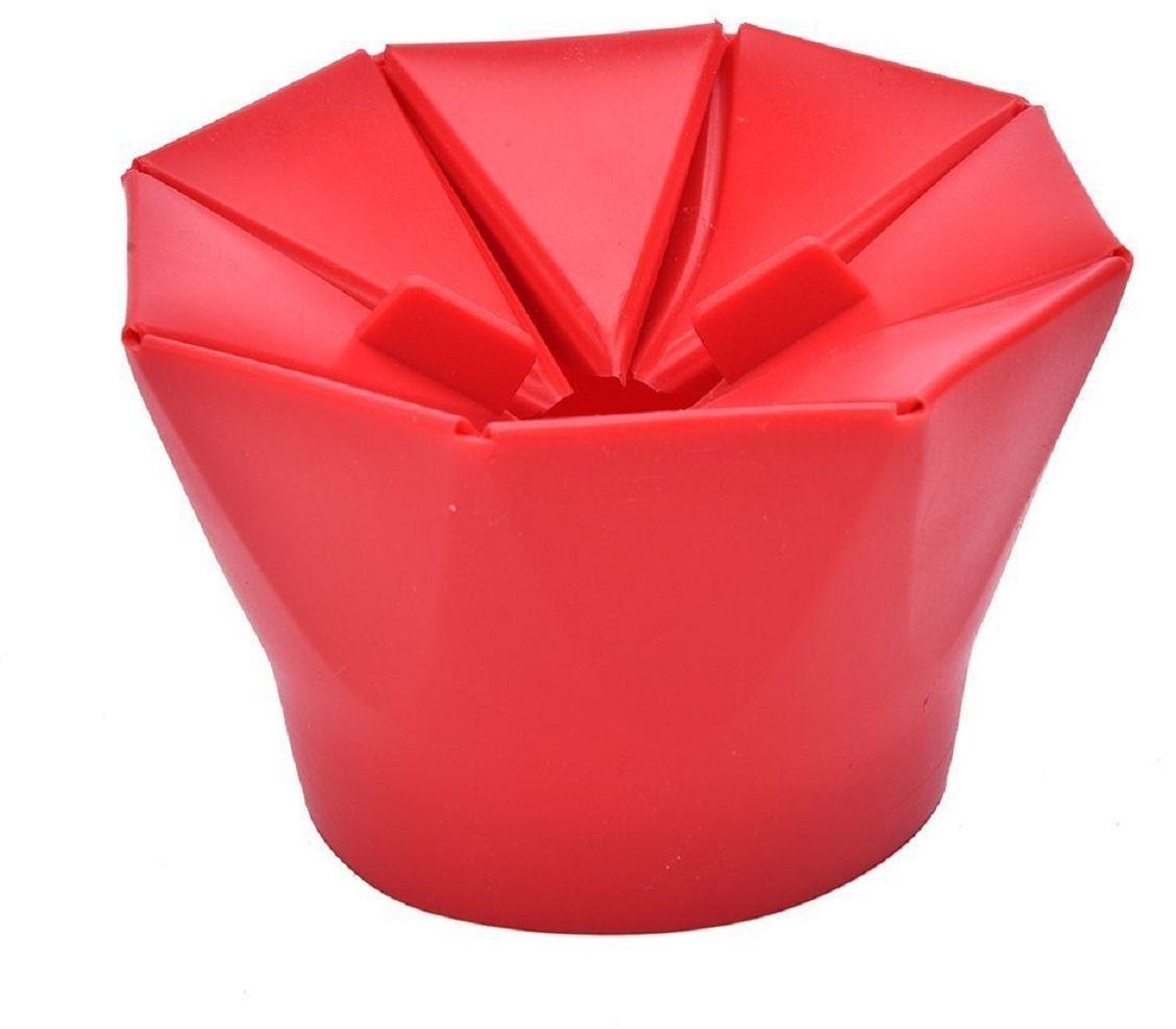 Форма для приготовления попкорна FidgetGo, цвет: красный, 10,4 х 16 х 16 см2212345678960Силиконовая форма позволяет готовить попкорн из зерен кукурузы без спецпакета, что позволяет контролировать приготовление, а не догадываться по звукам из микроволновки.Пару минут и большой стакан горячего, ароматного и свежего попкорна уже у Вас!Насладитесь вкусом приготовленной на пару домашней и питательной воздушной кукурузой и попробуйте разные рецепты, чтобы она получилась еще оригинальнее.