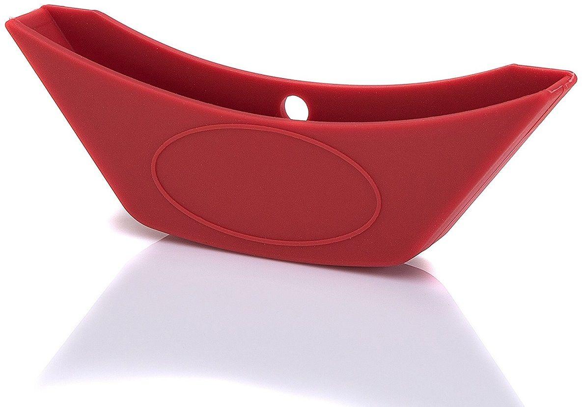 Насадка для раскаленной ручки кастрюли или казана FidgetGo, цвет: красный, 14 х 4,5 см2212345678964Если надоело использовать прихватки и перчатки, чтобы взять за горячую ручку кастрюли или казана при готовке, определенно стоит обзавестись специальной насадкой.Она выполнена из силикона и повторяет форму ручки. Предназначена для кастрюль или казанов со стальными или чугунными ручками. Может выдерживать температуру до +230°С. Приятна на ощупь и не выскальзывает из рук. Ее можно легко надеть на ручку уже разогретой посуды.Силикон выдерживает температуры от - 40°С до 230°С, не впитывает посторонние запахи и обладает грязеотталкивающими свойствами.