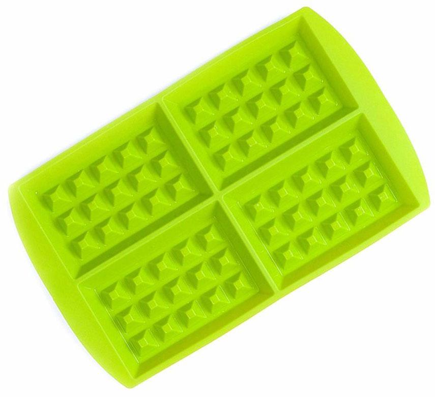 Форма для вафель FidgetGo, цвет: зеленый, 28,5 х 18,5 х 1,7 см, 4 ячейки2212345678991Силиконовая форма для вафель подарит Вам 4 аппетитных вафли, которые сохраняют свою форму.Сделайте вафельное тесто и украсьте готовый вафли по-своему. Они могут быть как сладкими, так и заменить тост для завтрака.ХОЛОДО И ТЕПЛОУСТОЙЧИВОСТЬ: Эта силиконовая форма спроектирована и изготовлена с учетом горячих и холодных обработок, она может хорошо противостоять низкой и высокой температуре от -40°С до +230°С. Независимо от того, какие способы приготовления вы используете для нее, силикон не проявит ни малейшего признака износа. Она безопасны для морозильной камеры, духовки, микроволновой печи и посудомоечной машины.НАДЕЖНЫЕ КАЧЕСТВЕННЫЕ МАТЕРИАЛЫ: когда речь заходит о наших силиконовых формах и других кухонных принадлежностях, мы гарантируем использование нетоксичных, не содержащих BPA материалов, а также самых современных производственных процессов и строгий контроль качества. ЛЕГКО ИСПОЛЬЗОВАТЬ И ЧИСТИТЬ: Эту силиконовую форму очень легко наполнить вашими выбранными ингредиентами. Не требуется масло для предотвращения прилипания.