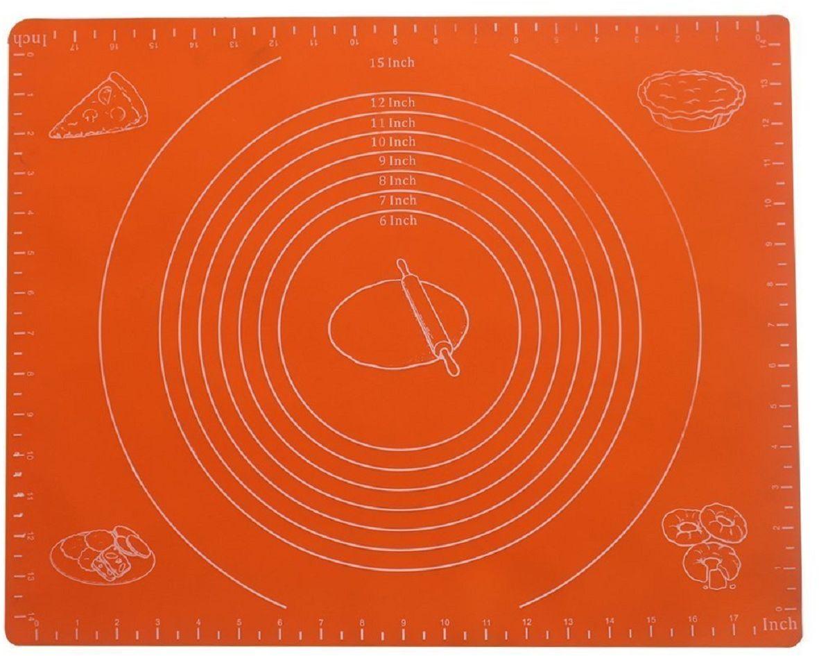 Коврик для теста FidgetGo, силиконовый, цвет: оранжевый, 50 х 40 см2212345678996Коврик для теста изготовлен из прочного силикона для пищевых продуктов, нетоксичен, не дает никакого дополнительного вкуса или запаха для вашей пищи, безопасен для использования, устойчив к пятнам и повреждениям. Легко моется. Функционален: замена разделочной доски, доски для раскатки теста, коврик на обеденный стол, коврик на рабочее место вашего ребенка. Очень удобен в использовании, так как при работе коврик не двигается по столу.Силиконовый коврик выдерживает высокие и низкие температуры (от -40°С до +230°С градусов).