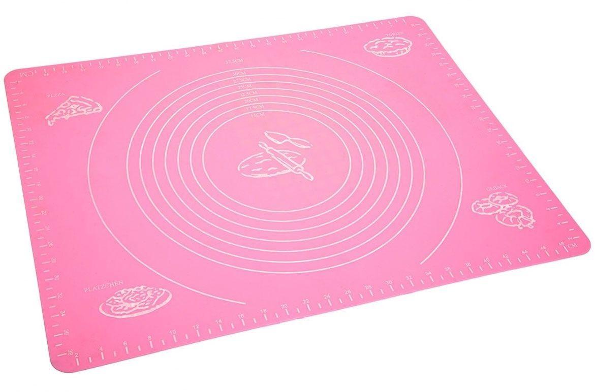 Коврик для теста FidgetGo, силиконовый, цвет: розовый, 50 х 40 см2212345678997Коврик для теста изготовлен из прочного силикона для пищевых продуктов, нетоксичен, не дает никакого дополнительного вкуса или запаха для вашей пищи, безопасен для использования, устойчив к пятнам и повреждениям. Легко моется. Функционален: замена разделочной доски, доски для раскатки теста, коврик на обеденный стол, коврик на рабочее место вашего ребенка. Очень удобен в использовании, так как при работе коврик не двигается по столу.Силиконовый коврик выдерживает высокие и низкие температуры (от -40°С до +230°С градусов).