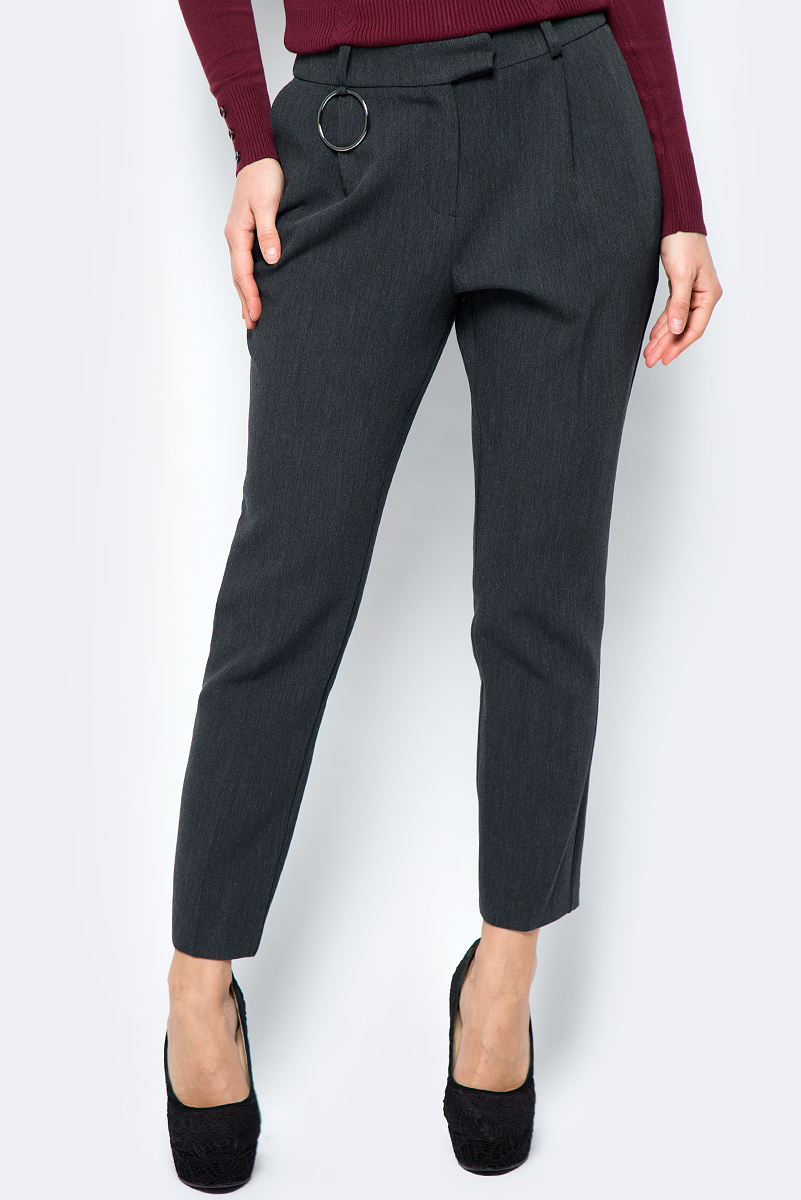 Брюки женские adL, цвет: темно-серый. 15333130000_014. Размер XS (40/42) блуза adl adl ad005ewvpi02
