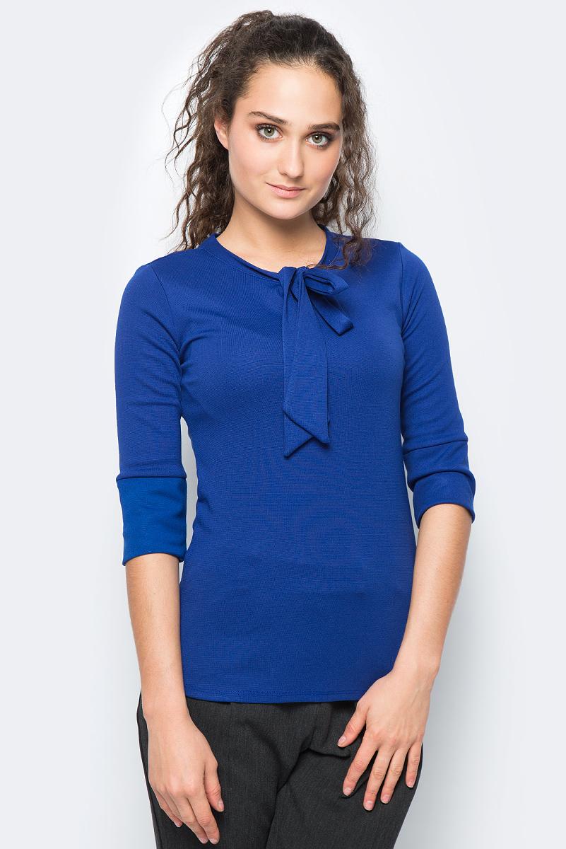 Блузка женская adL, цвет: синий. 11533252000_022. Размер XS (40/42)11533252000_022Стильная блузка выполнена из комбинированного приятного материала. Модель с круглым вырезом горловины и рукавами ? отлично дополнит ваш образ.