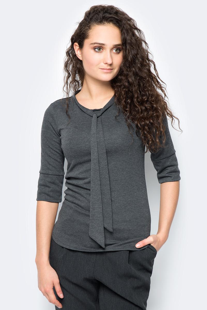 Блузка женская adL, цвет: темно-серый. 11533252000_014. Размер S (42/44)11533252000_014Стильная блузка выполнена из комбинированного приятного материала. Модель с круглым вырезом горловины и рукавами ? отлично дополнит ваш образ.