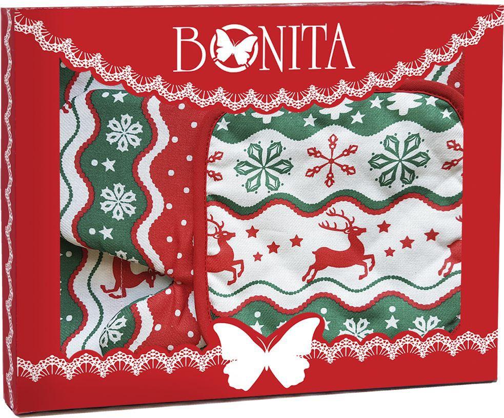 Подарочный набор Bonita Новогодний базар, 3 предмета. 11010817525 набор из 3 х плетеных корзин ql400339