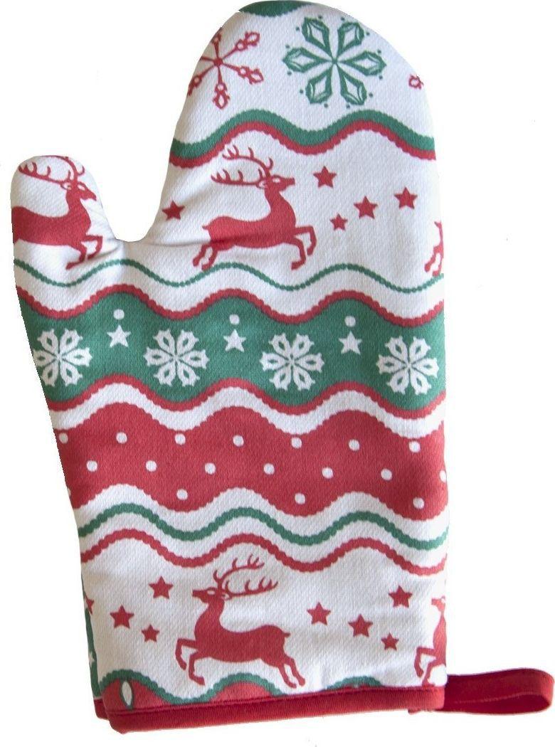 Рукавица Bonita Новогодний базар, 17 х 28 см16010817483Прихватка для горячего Bonita, выполненная из натурального хлопка в виде красочной рукавицы, станет украшением любой кухни. Изделие оснащено петелькой, с помощью которой прихватку можно вешать. Отличный вариант для практичной и современной хозяйки.