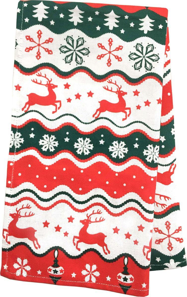 Полотенце Bonita Новогодний базар. Рудольф, 35 х 63 см. 21010117663 полотенце кухонное bonita белые росы цвет белый бежевый 35 х 61 см