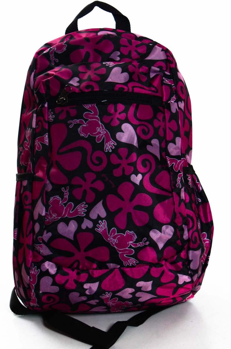 Рюкзак городской Ibag Лягушка, цвет: розовый, 18 л181 лягушкаИмеет несколько основных отсеков. Два боковых открытых кармана. Передний плоский карман на молнии. Лямки и спинка мягкие.