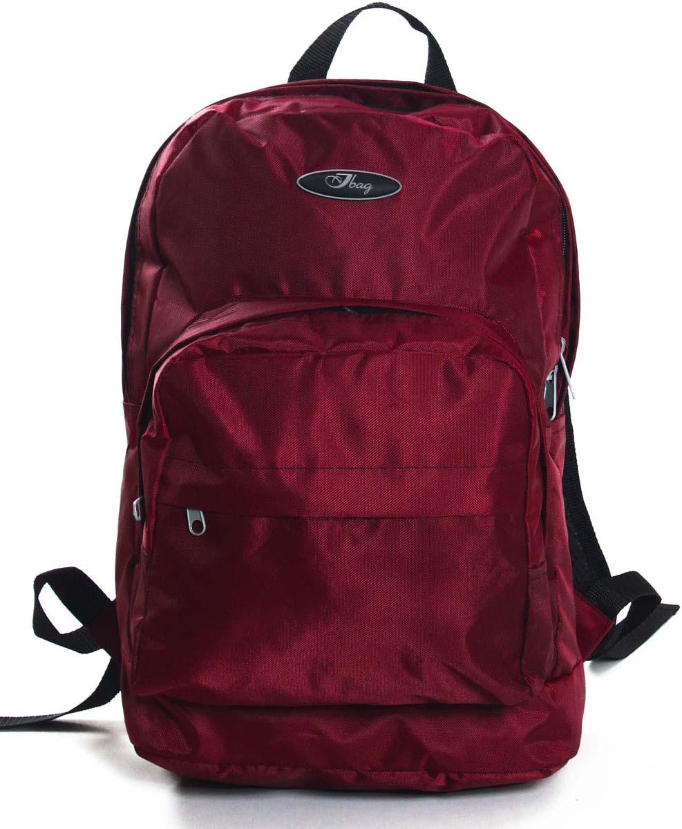 Рюкзак городской Ibag Бордо Таслан, цвет: бордовый, 18 л182 Бордо ТасланЯркий и стильный рюкзак. Отличное решение для города. Рюкзак имеет два вместительных отделения и два наружных кармана на молнии.