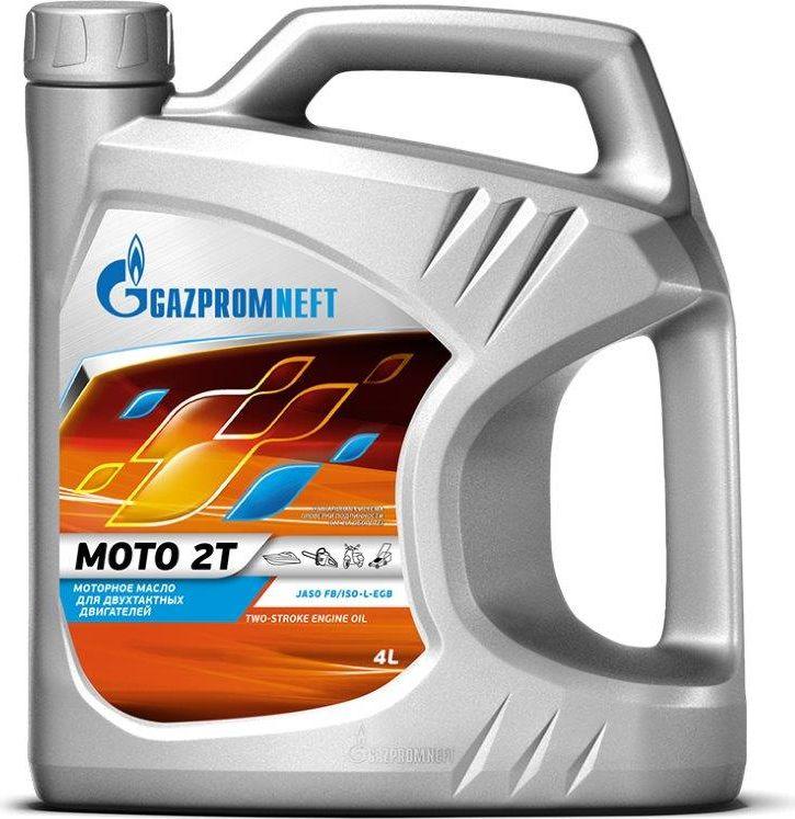 Масло моторное Gazpromneft Moto 2T, JASO FB/ISO-L-EGB, для двухтактных двигателей, 4 л2389907005Моторное масло для двухтактных бензиновых двигателях с воздушным охлаждением, устанавливаемых на мотоциклах, мотороллерах, снегоходах, лодках, мотоблоках, а также бензопилах, газонокосилках и другой садовой технике. Используется для приготовления топливно-масляной смеси, в соотношении от 1:50 до 1:100 в зависимости от условий эксплуатации и рекомендаций производителя техники. Обладает отличной смешиваемостью и растворимостью в бензинах, обеспечивает создание надежной масляной пленки на поверхностях поршней и цилиндров. Защищает детали от износа, не допускает прихватывания поршней и пригорания колец, предотвращает образование отложений в двигателе и выпускном тракте, поддерживает свечи в чистоте, продлевая ресурс работы двигателя, обеспечивая максимальную мощность двигателя. Сбалансированный состав масла способствует максимально полному сгоранию топливо-масляной смеси и тем самым снижению токсичности отработавших газов. Отлично защищает двигатель и топливную систему от коррозии в режиме длительного простоя.