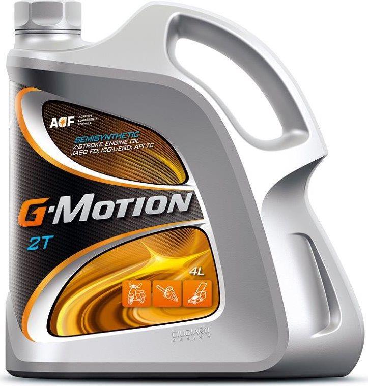Масло моторное G-Motion 2T, JASO FD, ISO-L-EGD, API TC, полусинтетическое, для двухтактных двигателей, 4 л моторное масло mannol 2 takt universal api tc минеральное 1 л