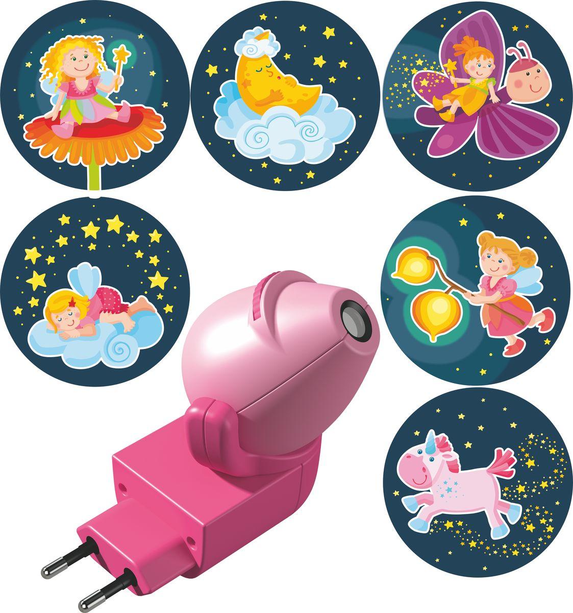 Haba Ночник-проектор Волшебный фонарь с вкладышами Феи301992Проектор станет прекрасным спутником вашего малыша в мире Морфея. Шесть милыхкартинок со спящими феями развеют тьму и навеют прекрасные сны.